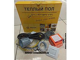 Тёплый пол комплект термостат + нагревательный кабель in-therm ADSV20 1.4 м.кв (270 вт)
