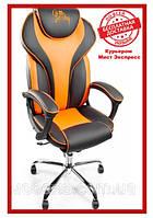 Компьютерное кресло Barsky BSDchr-05 Sportdrive Orange Arm_pad Tilt Chrome, геймерское кресло