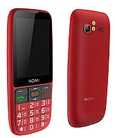 Кнопочный телефон номи бабушкофон с мощной батареей и большим дисплеем на 2 симки Nomi i281+ Red
