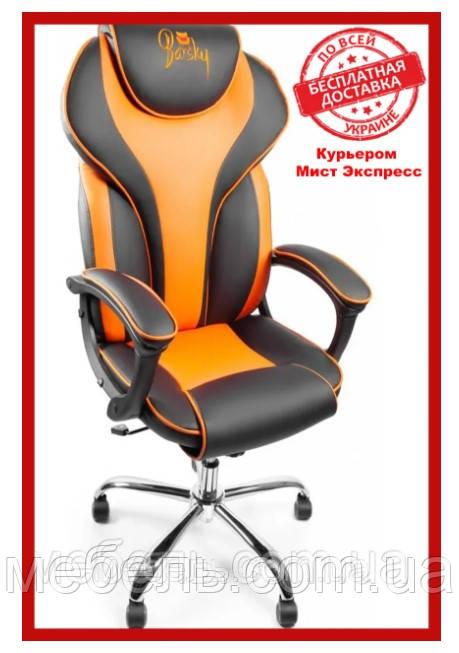 Кресло для врача Barsky BSDchr-05 Sportdrive Orange Arm_pad Tilt Chrome, оранжевый