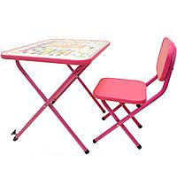 Детская парта OMMI Азбука Розовый