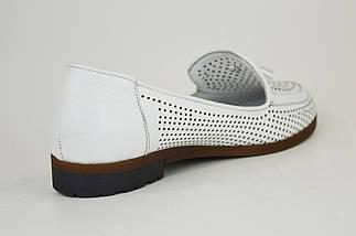 Туфли Женские белые летние Euromoda 6013 с перфорацией, фото 2