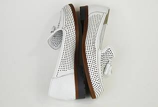 Туфли Женские белые летние Euromoda 6013 с перфорацией, фото 3