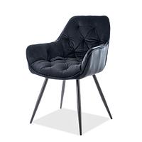 Кресла мягкие черные Signal Cherry Velvet в стиле модерн для гостиной на четырех ножках