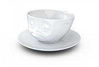 Чашка с блюдцем для кофе Tassen Озадачен (200 мл), фарфор, фото 1