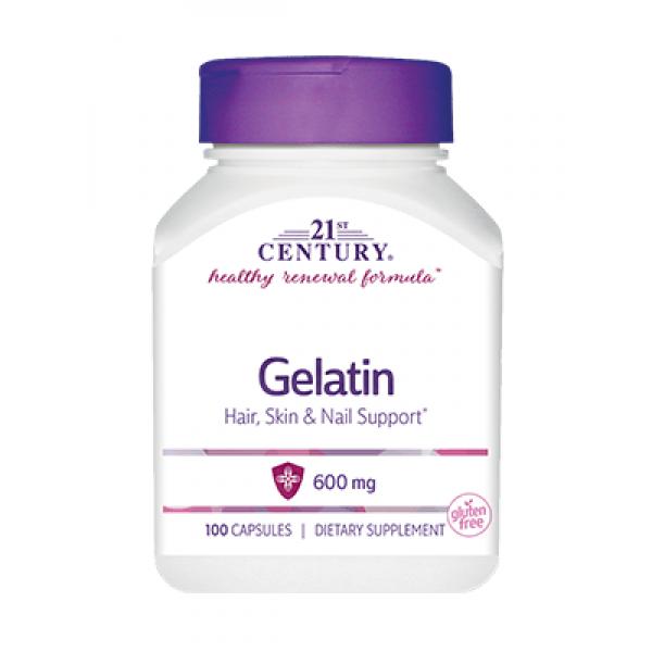 Желатин в капсулах 21st Century Gelatin 600 mg (100 капс) 21 століття центурі