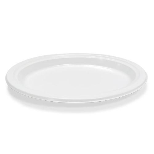 Тарелка пластиковая овальная Премиум белая - 50 шт, D260
