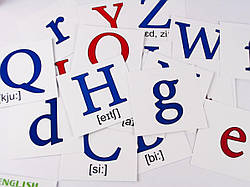 Набор карточек Английский алфавит Аlphabet (англ) 11х11 см, Зірка (101693)
