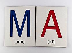 Набор больших карточек Английский алфавит Аlphabet (англ) 20х15 см, Зірка (72949)