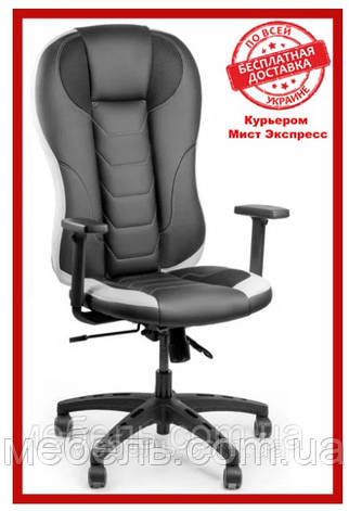 Кресло для врача Barsky BSDEsyn-04 Sportdrive Elite Black/White Arm_1D Synchro PA_designe, фото 2