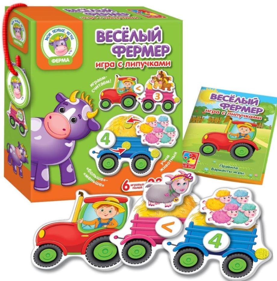 Игра с липучками Веселый фермер (рус), Vladi Toys (VT1310-01)
