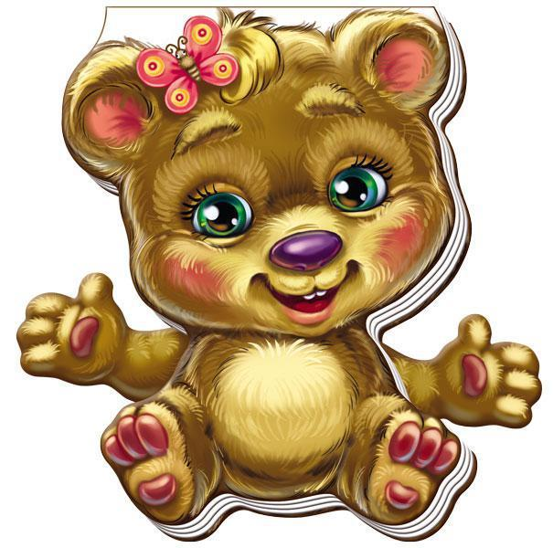 Книжка-игрушка Забавные лапки Медвежонок (укр), Ранок (А340007У)