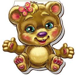 Книжка картонка для самых маленьких Забавные лапки Медвежонок (укр), Ранок (А340007У)