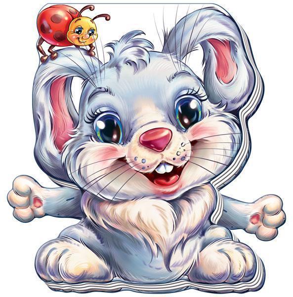 Книжка-іграшка Кумедні лапки Зайчик (укр), Ранок (А340008У)
