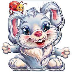 Книжка картонка для малышей Забавные лапки Зайчик (рус), Ранок (А340004Р)