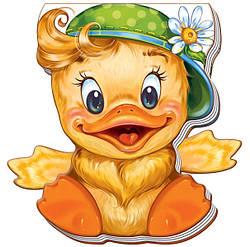 Книжка картонка для малышей Забавные лапки Утенок (рус), Ранок (А340002Р)