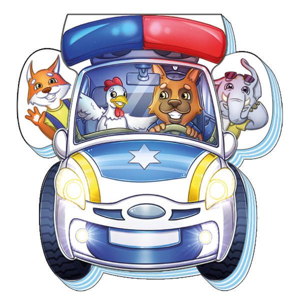 Книжка-картонка для малышей Полицейская машина (рус), Ранок (А865003Р)