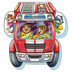 Книжка-картонка для малышей Отважная пожарная машина (укр), Ранок (А865010У)