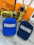 Брендовая кепка Dsquared2 D9375 синяя, фото 3