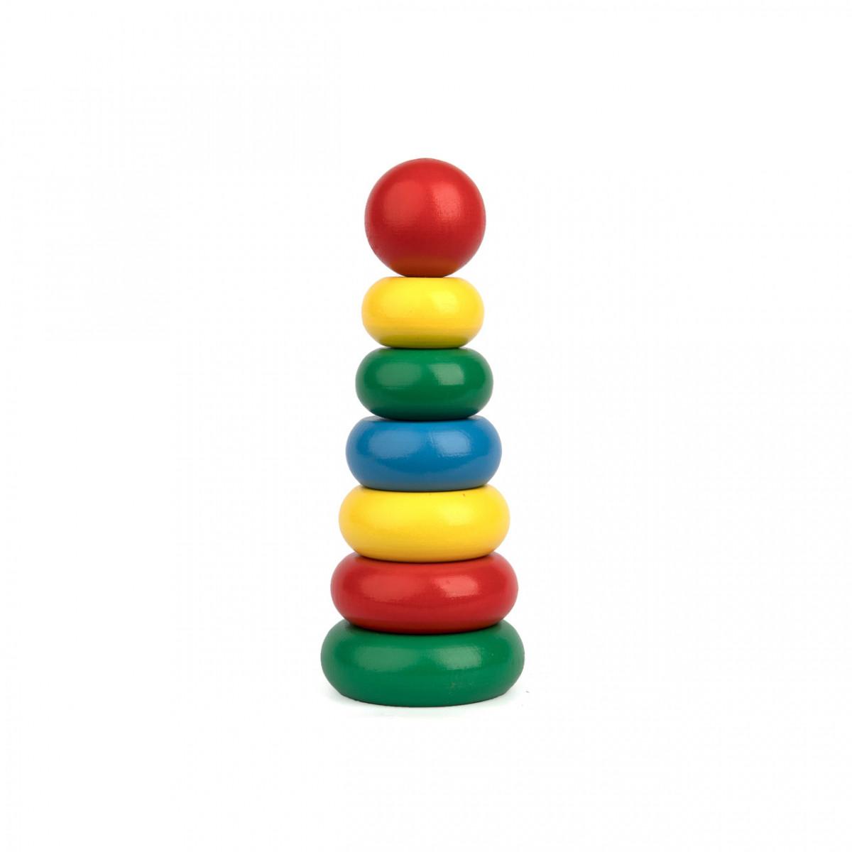 Деревянная игрушечная пирамидка, Komarovtoys (А 301)