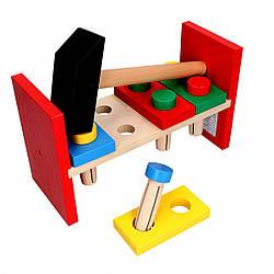 Деревянная игрушка Стучалка Гвозди, Komarovtoys (А 315)