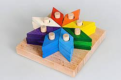 Деревянная пирамидка Цветик-семицветик, Тато (ПР-012)
