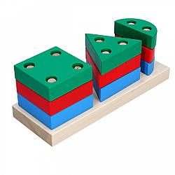 Деревянная пирамидка-сортер Гео Мини 1, Komarovtoys (А 309)
