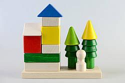 Деревянная развивающая пирамидка Домик, Тато (КС-004)