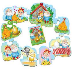 Курочка Ряба сказка с пазлами для малышей (укр), Vladi Toys (VT2909-10)