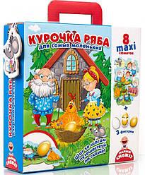Курочка Ряба сказка с пазлами для малышей (рус), Vladi Toys (VT2909-12)