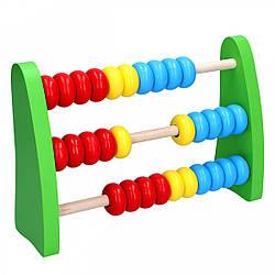 Деревянные игрушечные счеты, Komarovtoys (А 314)