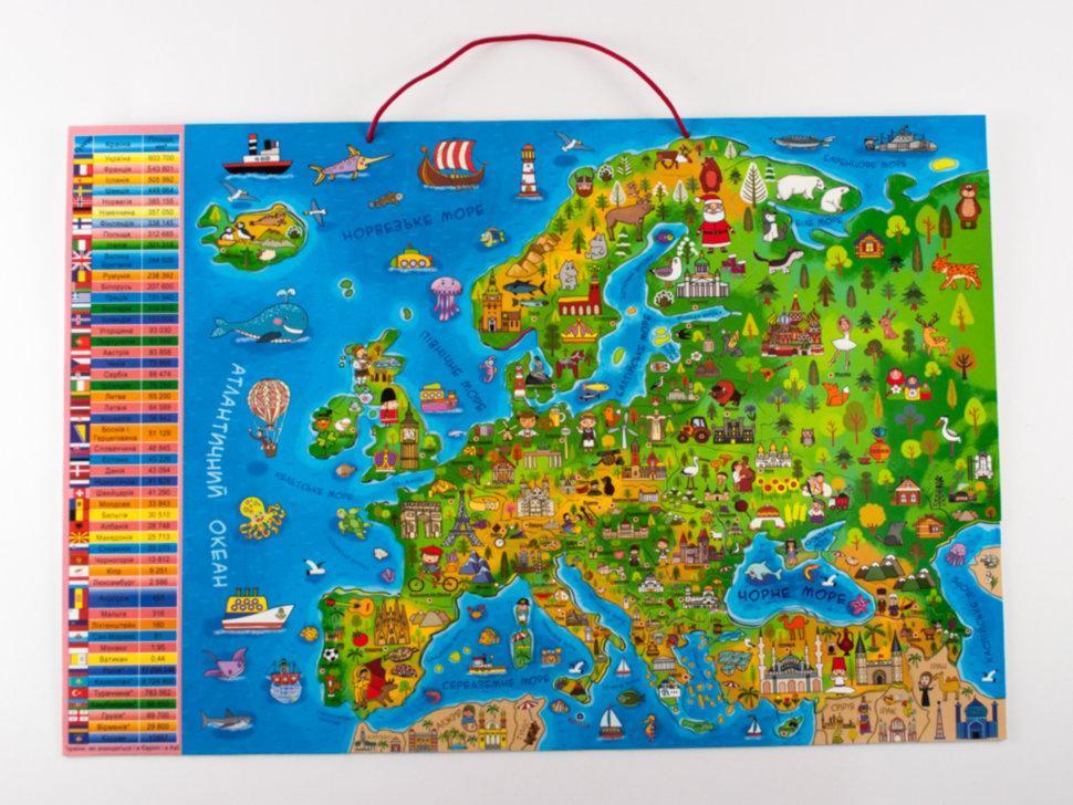 Дитяча магнітна картка-пазл Мандруємо Європою (укр), Зірка (286327)