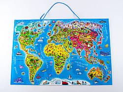 Детская магнитная карта-пазл Путешествуем по Миру (укр), Зірка (75437)