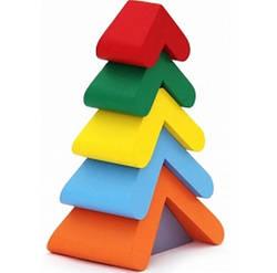 Деревянная игрушка пирамидка Елочка, Komarovtoys (А 348)