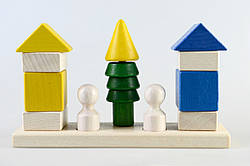 Детская деревянная пирамидка Соседи, Тато (КС-007)