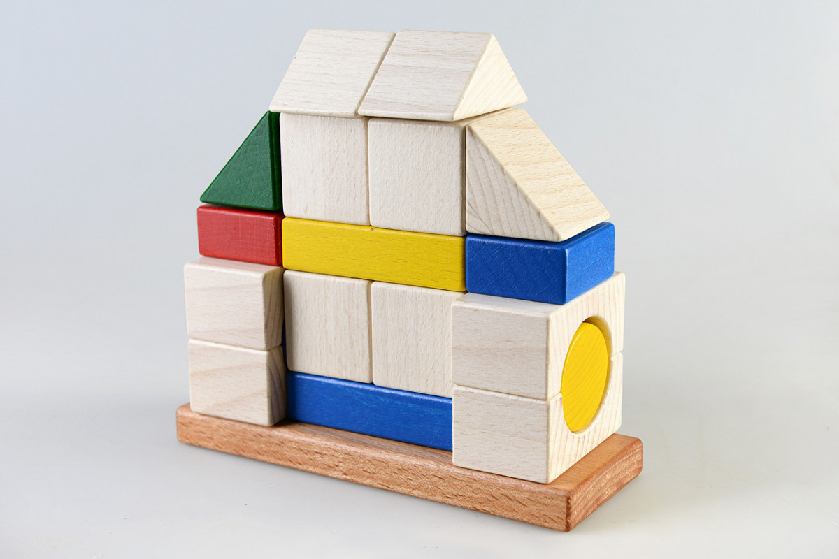 Детская деревянная игрушка пирамидка конструктор Усадьба, Тато (КС-005)