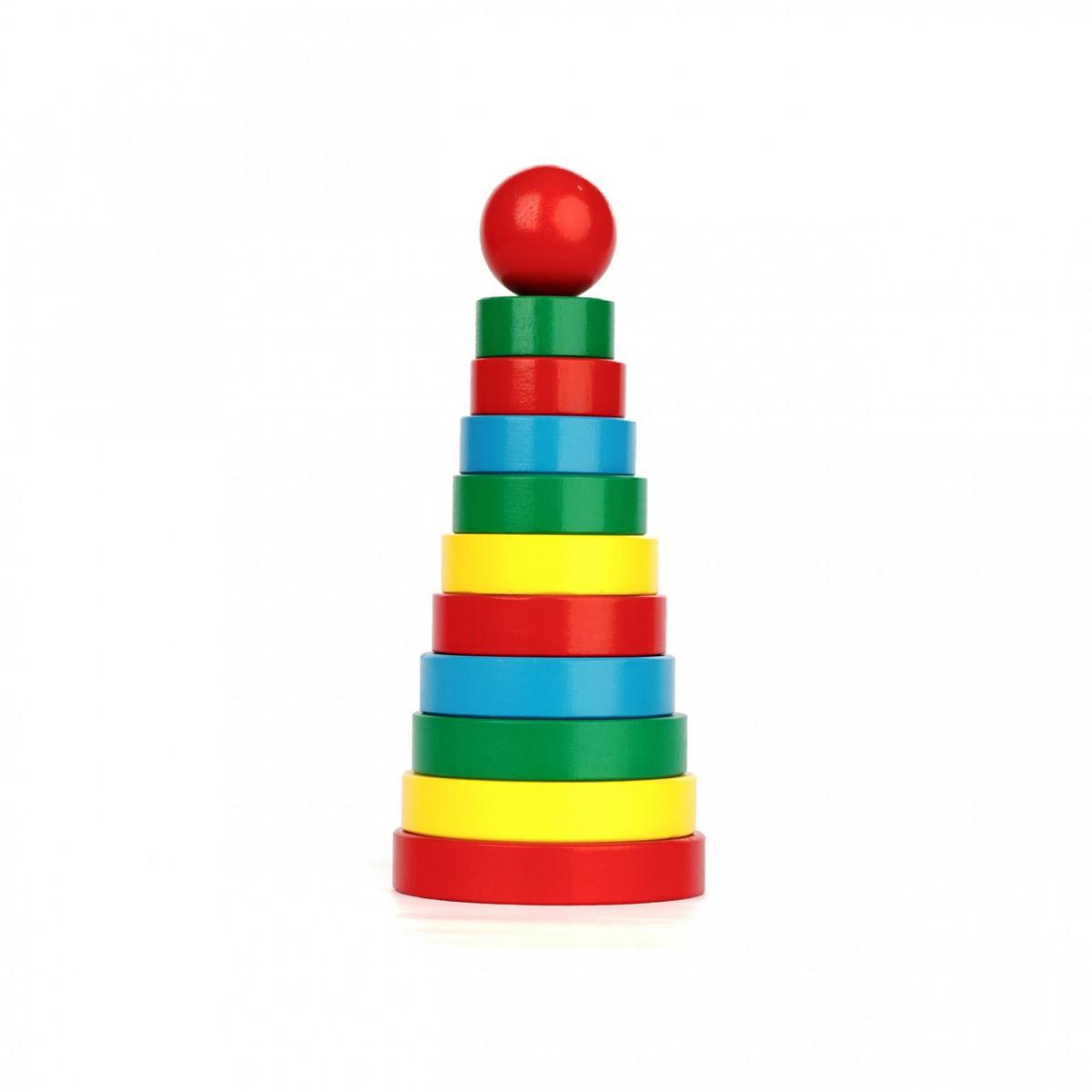 Детская деревянная Пирамидка, Komarovtoys (А 321)