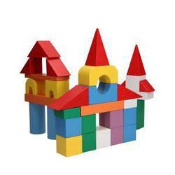 Дитячі дерев'яні кубики у відрі (31 поз), Komarovtoys (А 318)