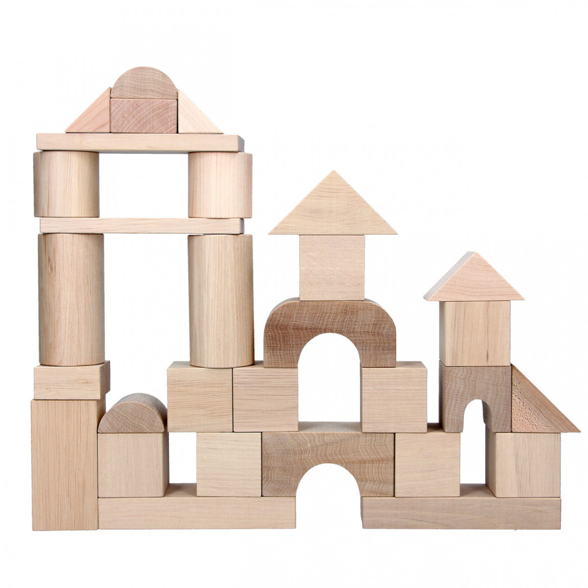 Дитячі дерев'яні кубики у відрі, Komarovtoys (А 316)