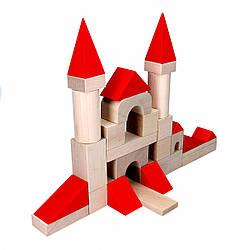 Дитячі дерев'яні кубики у відрі, Komarovtoys (А 317)