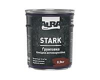 Грунт алкидный AURA STARK антикоррозионный красно-коричневый 0,9кг