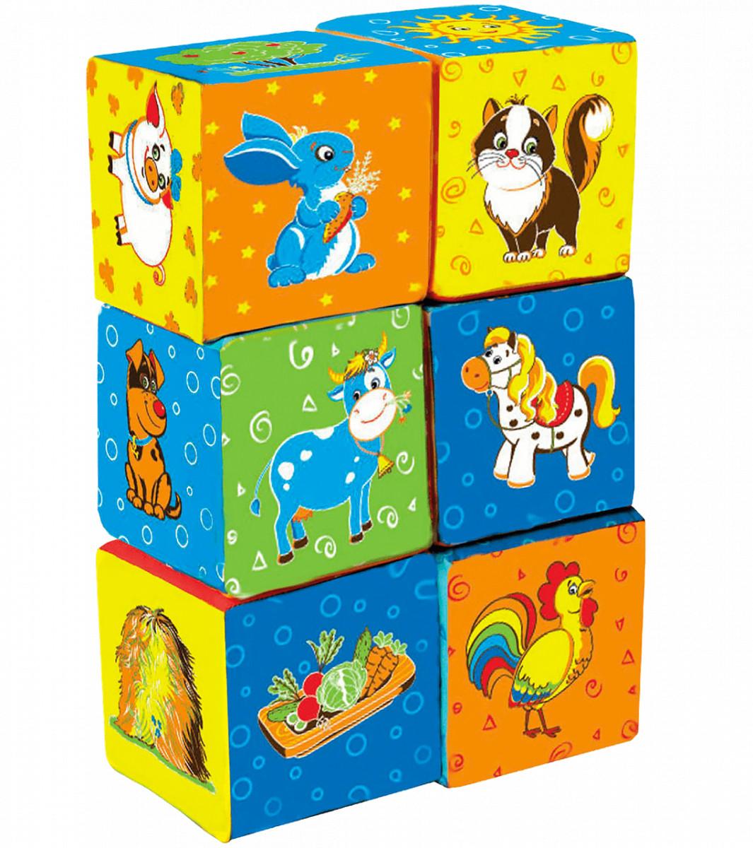 М'які кубики для малюків Ферма, Macik (МС 090601-02)