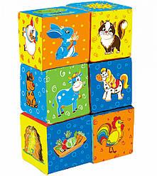 Мягкие кубики для малышей Ферма, Macik (МС 090601-02)