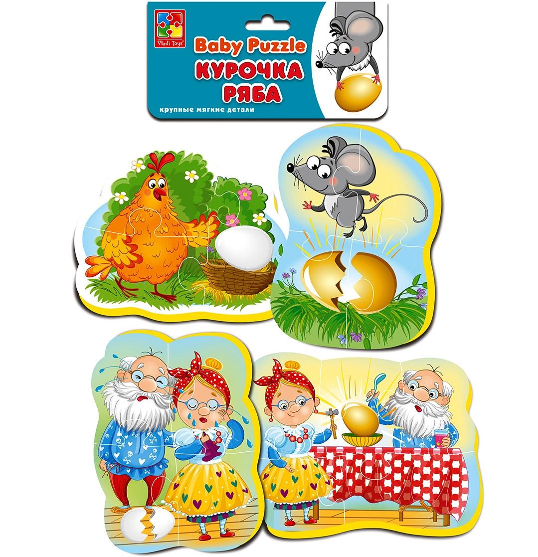М'які пазли для малюків Курочка Ряба (рос), Vladi Toys (VT1106-61)