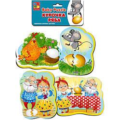 Мягкие пазлы для малышей Курочка Ряба (рус), Vladi Toys (VT1106-61)