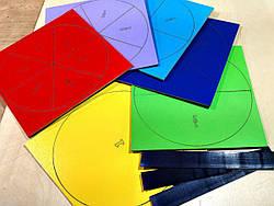Дроби на магнитах диаметр 20 см (от 1 до 1/6) (укр), Вундеркинд (ДР-025)