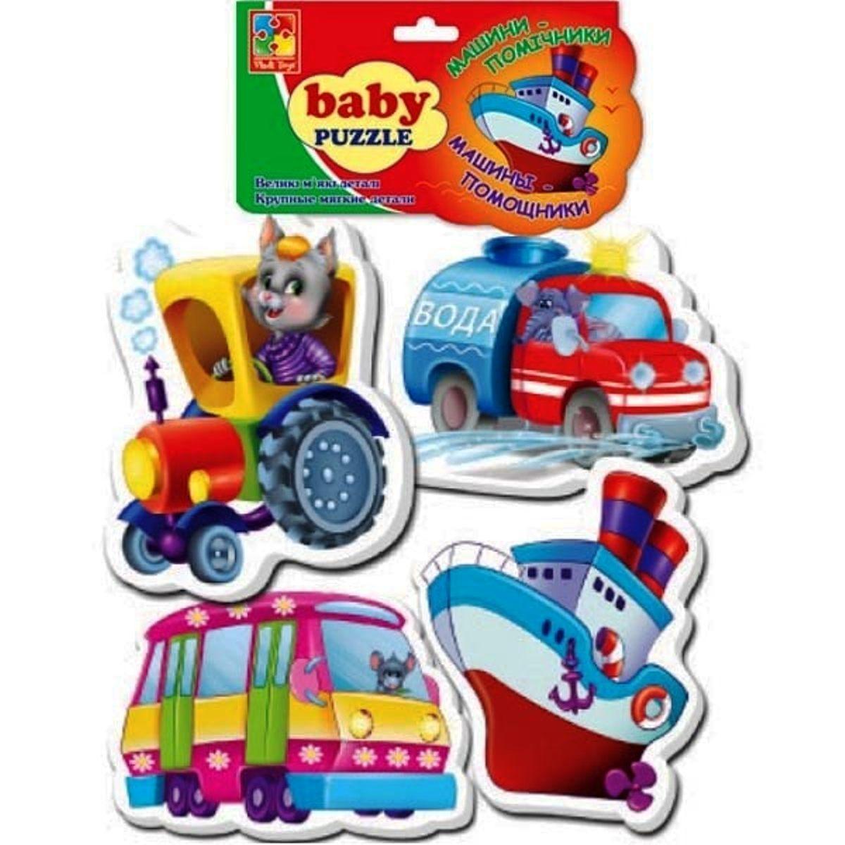 Мягкие пазлы для малышей Транспорт (рус/укр), Vladi Toys (VT1106-08)