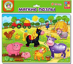 Мягкие пазлы для малышей животные Ферма, Vladi Toys (VT1102-14)