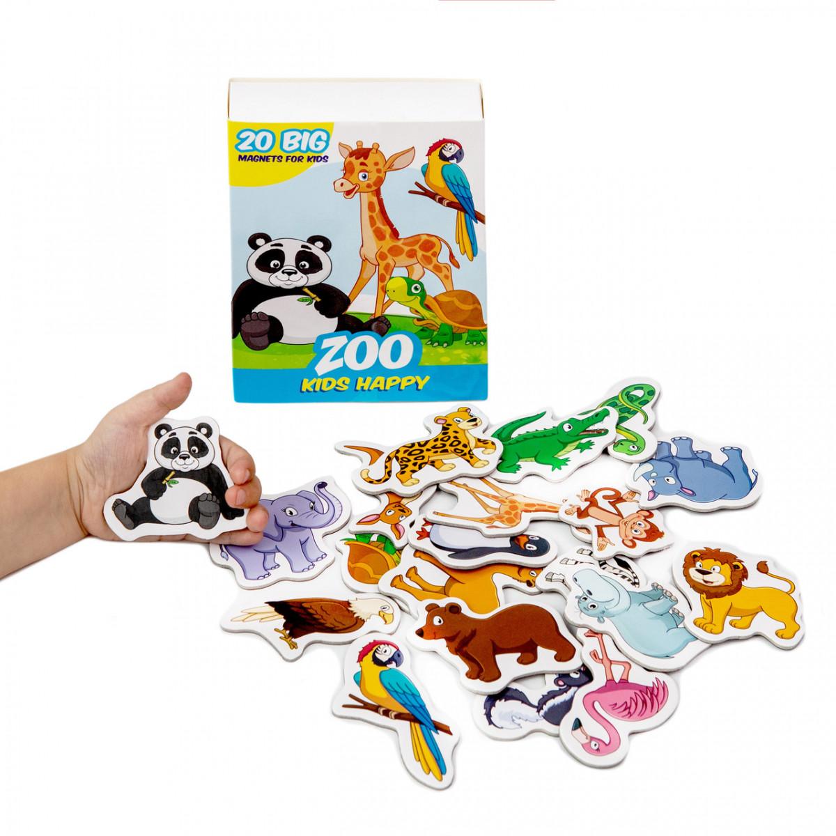 Набор детских магнитов Зоопарк Счастливые дети, Magdum (ML4031-01)
