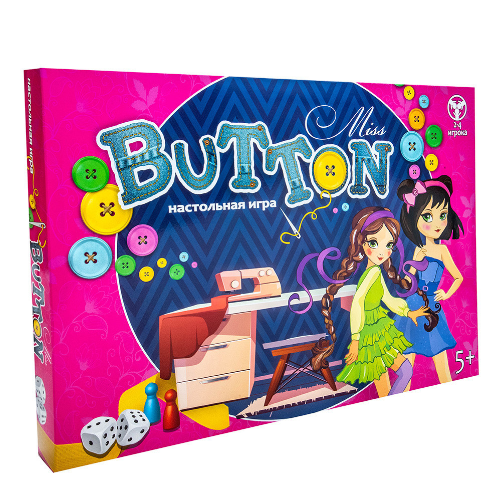 Игра бродилка Miss Button (рус), Strateg (30355)